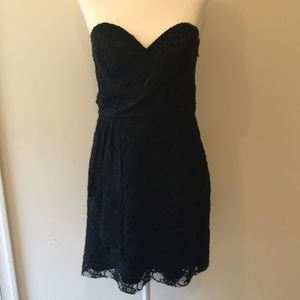 Express Black Lace Strapless Sweetheart Dress -Sz4